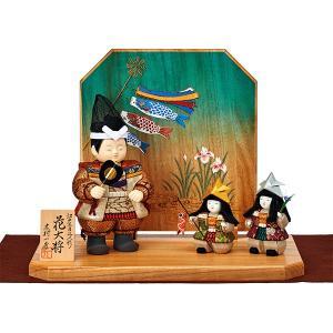 五月人形 木目込み 一秀作 大将人形 平飾り|jinya