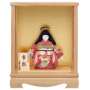 市松人形 木目込み 一秀作 市松人形 ケース飾り|jinya