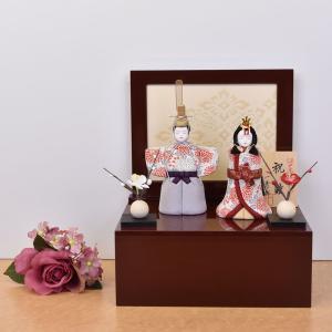 雛人形 収納飾り 立雛 立ち雛 木目込み 一秀 かわいい シンプル モダン コンパクト ひな人形 親王飾り ミニ