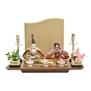 雛人形 コンパクト ひな人形 親王飾り 平飾り ミニ お雛様 JIN雛 シリーズ|jinya