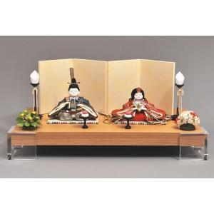 雛人形 ひな人形 幸一光 衣装着 咲親王飾りアクリル台105|jinya