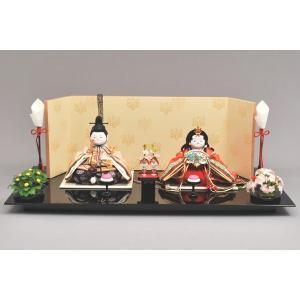 雛人形 ひな人形 幸一光 衣装着 小町雛親王飾り黒台1061|jinya
