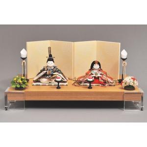 雛人形 ひな人形 幸一光 衣装着 花小町親王飾りアクリル台111|jinya