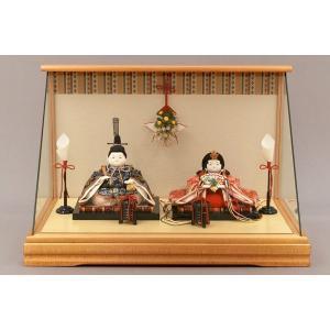 雛人形 ひな人形 幸一光 衣装着 花小町親王飾りケース飾り1110|jinya