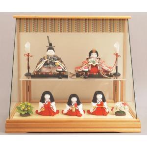 雛人形 ひな人形 幸一光 衣装着 花小町五人飾りケース飾り1140|jinya