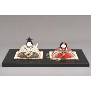 雛人形/ひな人形 幸一光 木目込み 和親王飾り黒台4580|jinya