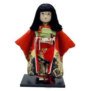 市松人形13号 駒 金彩 蝶々柄 女の子 いちまつ人形 jinya