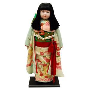 市松人形30号 水色 正絹 友禅 絞り 女の子 いちまつ人形 訳あり 倉庫管理品|jinya