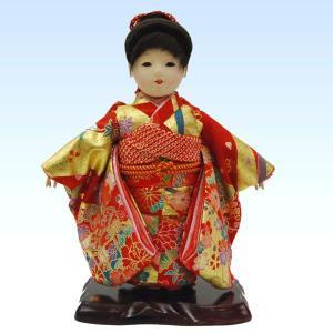 市松人形 8号 女の子 いちまつ人形 ポニーテール jinya