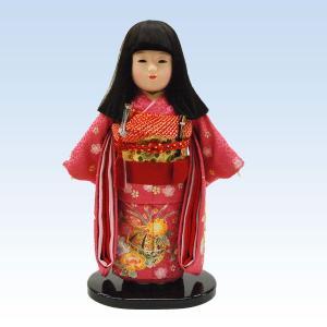 市松人形10号 女の子 いちまつ人形 金彩 京友禅 ピンクまり jinya