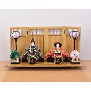 雛人形 ミニ親王セット 平飾り ひな人形 コンパクト|jinya
