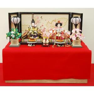 雛人形 収納飾り 親王飾り ひな人形 平飾り コンパクト ミニ|jinya