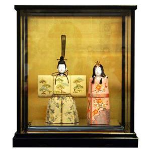 松寿 立雛 ひな人形 木目込み 雛人形 たちびな ケース入り 親王飾り ミニサイズ 小さい 12-3matu-yt0101|jinya