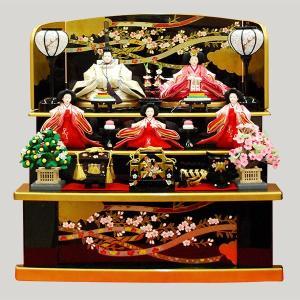 雛人形 収納飾り 3段飾り 5人飾り ミニ|jinya