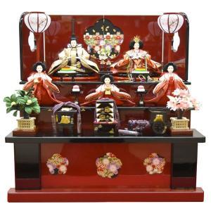 雛人形 収納飾り 三段飾り 5人飾り ミニ 3段飾り コンパクト 初節句|jinya