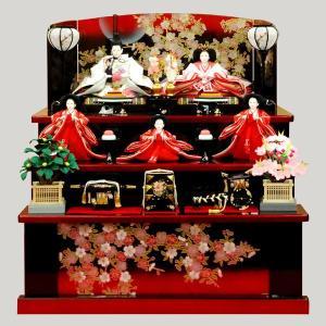 雛人形 収納飾り 三段飾り 五人飾り ミニ 5人|jinya