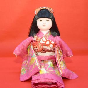 市松人形 抱き人形 8号 いちまつ人形 京8号座り百05顔|jinya