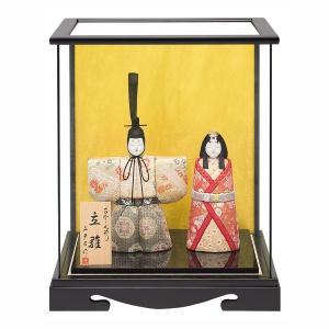 雛人形 真多呂 木目込み ひな人形 光明雛セット 立雛 ケース飾り 親王飾り|jinya