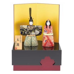 雛人形 真多呂 木目込み ひな人形 彩明雛セット 立雛 収納飾り親王飾り|jinya