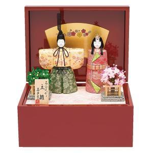 雛人形 真多呂 木目込み ひな人形 春桜雛セット 立雛 平飾り 親王飾り|jinya