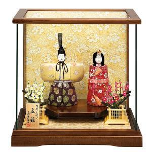 雛人形 真多呂 木目込み ひな人形 桜花雛セット 立雛 ケース飾り 親王飾り|jinya