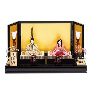雛人形 真多呂 木目込み ひな人形 彩光雛セット 平飾り 親王飾り|jinya