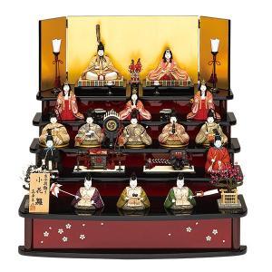 雛人形 真多呂 木目込み ひな人形 小花雛セット 15人飾り 十五人飾り 5段飾り 五段飾り|jinya