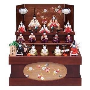 雛人形 真多呂 木目込み ひな人形 秀麗雛セット 収納飾り 15人飾り 十五人飾り jinya