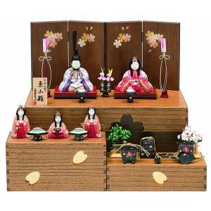 雛人形 真多呂 木目込み ひな人形 東山雛セット 収納飾り 五人飾り 5人 jinya