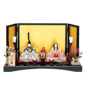 雛人形 真多呂 木目込み ひな人形 本金天宝雛セット 平飾り 親王飾り|jinya