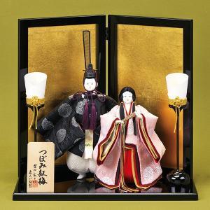 雛人形 つぼみ紅梅 芥子親王 親王飾り 平飾り 157-BA7631 西陣|jinya