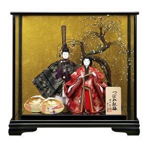 雛人形 つぼみ紅梅 芥子親王 親王飾り ケース飾り 157-BG7637 西陣|jinya