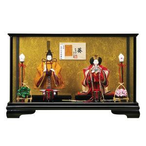 雛人形 葵 柳親王 親王飾り ケース飾り 親王157-F4511|jinya