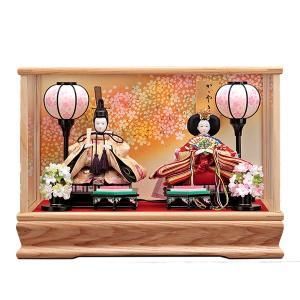 雛人形 ケース飾り ひな人形 コンパクト おしゃれ お雛様 みゆき ガラスケース入り 親王飾り 白 jinya