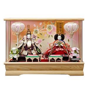 雛人形 ケース飾り ひな人形 コンパクト おしゃれ お雛様 姫華豆 アクリルケース入り 親王飾り 白 jinya