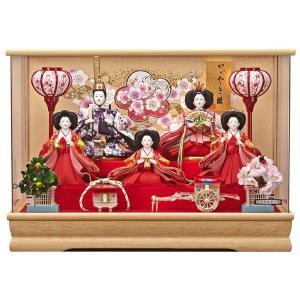 雛人形 ケース飾り 5人飾り ひな人形 舞姫 163-533|jinya