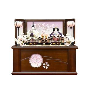 雛人形 コンパクト 収納飾り 紫 ひな人形 親王飾り 平飾り お雛様 初節句飾り JIN雛匠シリーズ お祝い おしゃれ|jinya