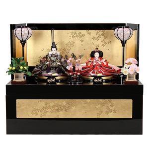 雛人形 収納飾り ひな人形 お雛様 初節句飾り お祝い 親王飾り 2人 平飾り かわいい|jinya