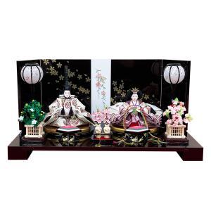 雛人形 親王飾り コンパクト ひな人形 おしゃれ かわいい 初節句 お雛様 シンプル|jinya