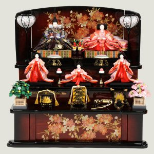 雛人形 三段飾り 3段飾り 5人 五人飾り ひな人形 43t|jinya