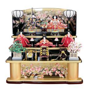 雛人形 三段飾り 五人飾り ひな人形 43t|jinya
