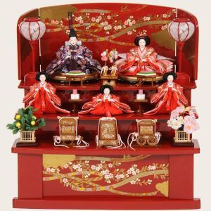 雛人形 収納 三段飾り ひな人形 衣装着 五人飾り 初節句 43t jinya