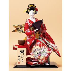 日本人形 10号尾山人形 野だて オ1136 正絹 jinya