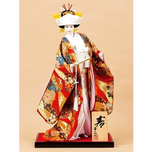 日本人形 12号尾山人形 オ2656 花嫁 金らん jinya