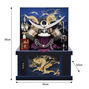 五月人形 着用兜 兜飾り 収納飾り 金はやぶさ 着用兜 竜虎 25号 kabuto60-69|jinya