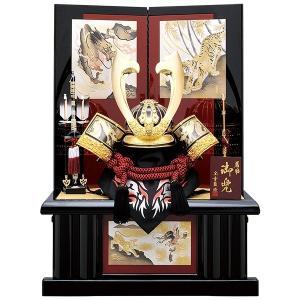 五月人形 着用 収納飾り 兜飾り 25号 金中鍬彫金着用兜黒赤収納飾り kabuto60-69 5月人形|jinya