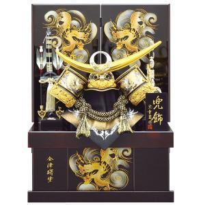 五月人形 収納飾り 兜飾り 12号 上杉謙信 金竜兜収納飾り kabuto-49 5月人形|jinya