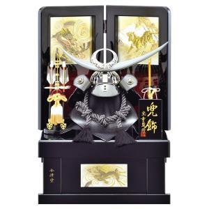 五月人形 収納飾り 兜飾り 12号 黒銀 上杉謙信 兜収納飾り kabuto-49 5月人形|jinya