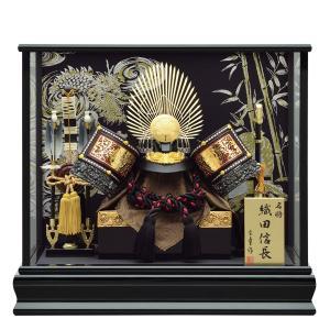 五月人形 ケース飾り 兜飾り ケース入り 12号 織田信長 家紋兜ケース飾り kabuto-49 5月人形|jinya
