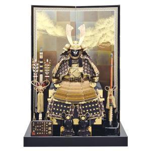 五月人形 鎧飾り 12号 胴丸王者鎧二曲飾り 茶色 yoroi70-89 5月人形|jinya